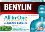 BENYLIN All‑In‑One® COLD AND FLU LIQUID GELS