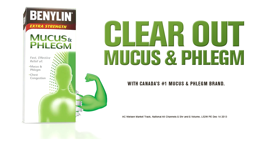 Clear out mucus & phlegm