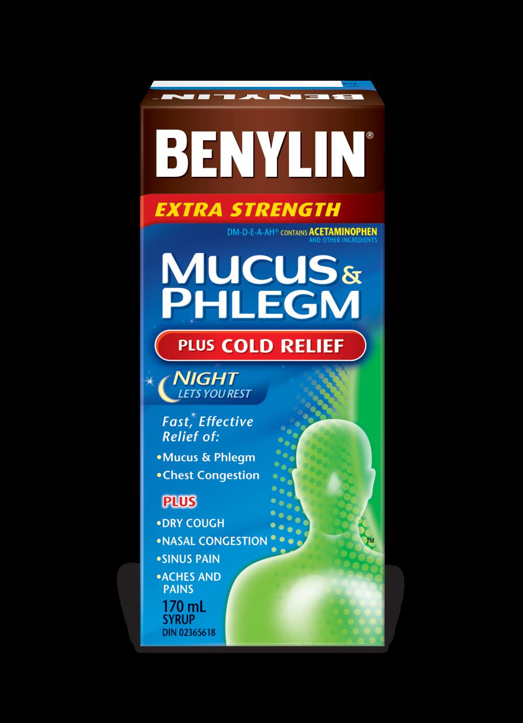 Mucus Amp Phlegm Plus Cold Relief Night Syrup Benylin 174 Canada
