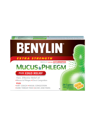 MUCUS & PHLEGM PLUS COLD RELIEF Caplets