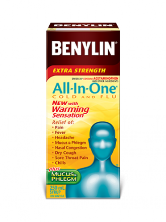 All‑In‑One® COLD AND FLU with Warming Sensation Syrup
