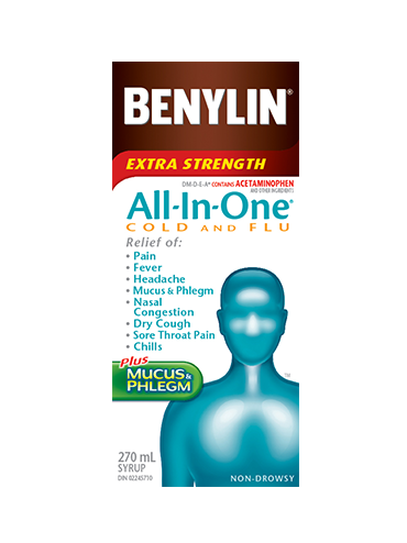 Benylin All In One Cold And Flu Syrup